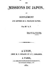Lettres des missions Japon