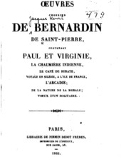 Oeuvre choisies de Bernadin